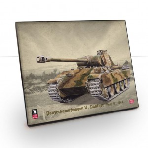 Framed Illustration of a Panzerkampfwagen V, Panther