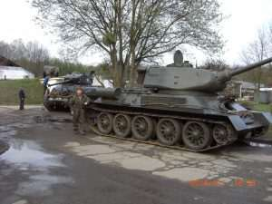 Uwe Feist with the T-34/85